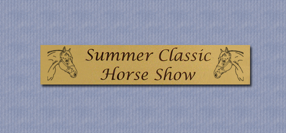 Metal Stall Nameplate Horse Designs Horse Smarts
