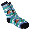 Horse Head with Horseshoes Sock - Adult - Equestrian Apparel Horse Sock.