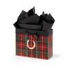 Festive Plaid Horseshoe Vogue Gift Bag