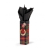Festive Plaid Horseshoe Wine Gift Bag