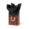 Festive Plaid Horseshoe Cub Gift Bag