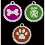 Stainless Steel Red Dingo ID Tag - Large