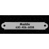 Dog collar engraved silver nameplate with your choice of ornamental or round end.