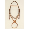 "1/2"" Fancy Stitched Raised Edgewood Bridle 5/8"" with a Fancy Stitched Figure 8 Noseband"