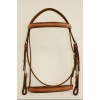 "Fancy Stitched Raised Edgewood 3/4"" Bridle with Padded Noseband and Browband"