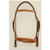 "Plain Raised Edgewood 5/8"" Bridle with Padded Crown, Browband and Noseband"