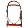 "Plain Raised Edgewood Bridle 3/4"" - Padded Crown Piece"
