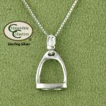 Medium Fillis Stirrup Necklace - English Equestrian Jewelry