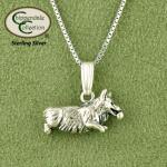 Playing Corgi Necklace - Dog Jewelry