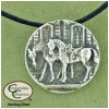 Vintage Horse Medallion Necklace - Horse Jewelry