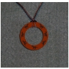 Circle of Horses Leather Engraved Charm Necklace - Equestrian Jewelry