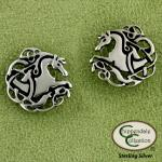 Celtic Knotwork Horse Earrings - Equestrian Jewelry