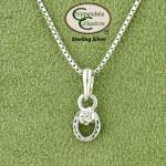 Petite Horseshoe CZ Necklace - Equestrian Jewelry