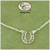 Horseshoe sterling silver equestrian ankle bracelet. Quality horse jewelry ankle bracelet that features a horseshoe.