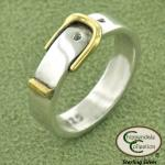 Brass buckle Sterling Silver ring equestrian ring. Show your love of horses with this beautiful horse inspired equestrian jewelr