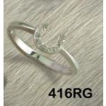 CZ Horseshoe Ring - Horse Jewelry