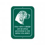Plastic Rectangle Sign - Hound Dog Design