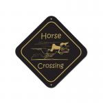 Personalized horse design diamond sign.