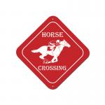 Plastic Engraved Diamond Sign - Horse Design 3