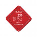 Plastic Custom Engraved Diamond Sign - Horse Design 6