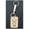 Engraved Silver Key Chain - Breed Logo