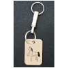 Engraved Silver Key Chain - Horse Design