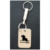 Engraved Silver Key Chain - Horse Design 2