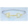 Equestrian jewelry D Ring Bit bangle bracelet
