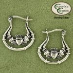 Celtic Claddagh Hoop Earrings - Equestrian Jewelry