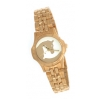 Gold and White Horse Head Watch Stainless Band