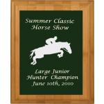 Engraved Bamboo Plaque - Horse Design