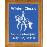 Engraved Bamboo Plaque - Horse Design 3