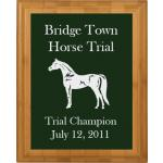 Engraved Bamboo Plaque - Horse Design 4
