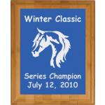 Engraved Bamboo Plaque - Horse Design 5