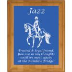 Pet Memorial Engraved Bamboo Plaque - Horse Design 3