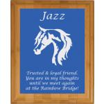 Pet Memorial Engraved Bamboo Plaque - Horse Design 5