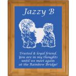 Pet Memorial Engraved Bamboo Plaque - Toy Dog Design