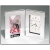 Polished Silver Clock / Photo Frame - Horse Design