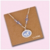 Cantering Horse Medallion Necklace - Blue