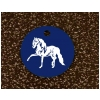 Engraved Equestrian Key Tag - Horse Design 3