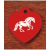 Engraved Equestrian Key Tag - Horse Design 4