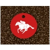 Engraved Equestrian Key Tag - Horse Design 5