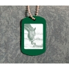 Colored anodized aluminum military GI dog tag necklace engraved with your photo. Equestrian Jewelry.