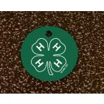 Colored Aluminum Bridle Engraved Tag - 4-H Logo