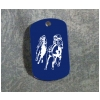 Custom Engraved Dog Tag Key Chain - Horse Design