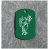 Custom Engraved Dog Tag Key Chain - Horse Design 6
