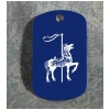Custom Engraved Dog Tag Key Chain - Horse Design 7