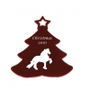 Engraved Aluminum Christmas Tree Ornament - Breed Logo