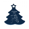 Custom Engraved Aluminum Christmas Tree Ornament - Horse Design