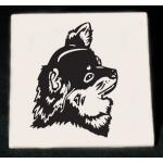 Ceramic Tile Trivet - Toy Dog Design